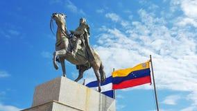 Monument of simon bolivar. A manument of simon bolivar in managua nicaragua venezuelan nicaraguan flag Royalty Free Stock Image