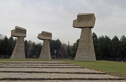 Monument on the site of the execution in Nis, Serbia. Nis, Serbia - December 14, 2017: monument on the site of the execution by the Nazis more than 10,000 people Stock Photos