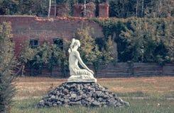 Monument `Sitting girl` in Chernobyl. Royalty Free Stock Photo