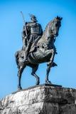 Monument of Skanderbeg in Tirana Stock Photos