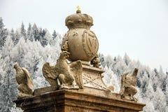 Monument in skiing resort Semmering, Austria. February 2011. stock photos