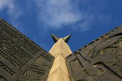 The monument and sky Royalty Free Stock Photos
