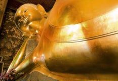 Monument of sleeping buddha, Wat Poh Bangkok. The biggest sleeping buddha Stock Images