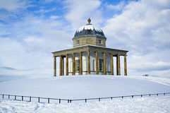 Monument in snow Stock Image