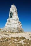 Monument som är hängiven till de blåa jäklarna nära toppmötet av den storslagna ballonen Arkivbild