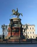 monument som 2 är nikolay till Fotografering för Bildbyråer