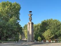 Monument som firar minnet av den 300. årsdagen av Taganrog, Ryssland Fotografering för Bildbyråer