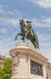 Monument som gör till kung den Dom Pedro droppen i Porto, Portugal royaltyfri bild
