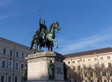 Monument som gör till kung Ludwig I av Bayern i Munich, Tyskland Arkivbilder