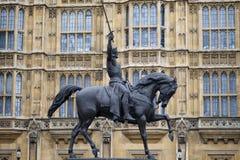 Monument som gör till kung Richard Arkivbilder