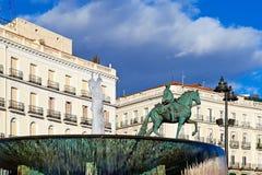 Monument som görar till kung Charles III, Madrid royaltyfri bild