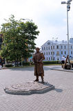 Monument som är hängiven till få av de Minsk Magdeburg rätterna Royaltyfri Bild
