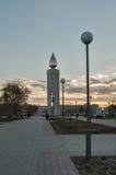 Monument sous forme de bougie Tyumen Russie Image stock