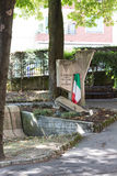 Monument in the south of town. Salsomaggiore Italy Stock Images