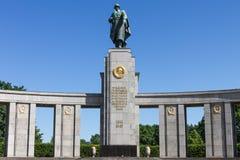 Monument soviétique de guerre à Berlin Image libre de droits