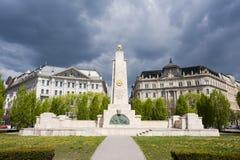 Monument soviétique sur la place de liberté, Budapest Photos libres de droits