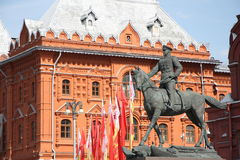 Monument of Soviet General Georgy Zhukov, Moscow Royalty Free Stock Image