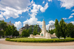 Monument for Soviet liberation. Of Hungary in World War II from Nazi German occupation in Budapest Stock Photography