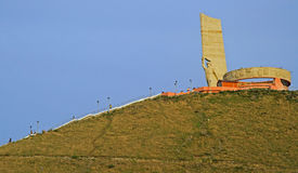 Monument for Soviet Military on Zaisan mountain Stock Images
