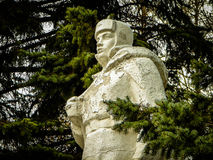 The monument since the Soviet Union died in world war 2 Russian soldiers in the town of Medyn, Kaluga region in Russia. In Russian cities, villages and Royalty Free Stock Photography