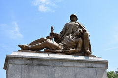 Monument of Soviet warriors in Warsaw Royalty Free Stock Photography