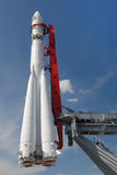 Monument of space rocket. Vostok-1 (Moscow, Russia Stock Image
