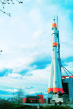 Monument of space rocket Soyuz. Stock Images