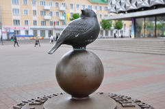 Monument sparrow. Baranovichi, Belarus Royalty Free Stock Photography