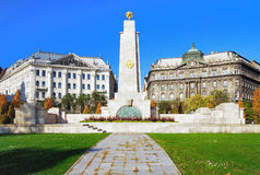 Monument on Square of Freedom in Budapest royalty free stock photography