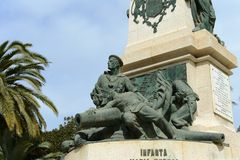 Monument on the square of Heroes de Cavite sailors Royalty Free Stock Photo