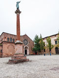 Monument of St Dominic and Basilica San Domenico Stock Photography
