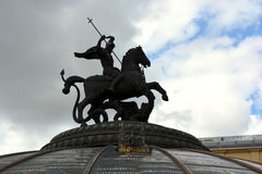 Monument of St. George in Moscow Stock Images