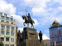 Monument St Wenceslas in Praag Royalty-vrije Stock Foto's