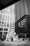 Monument with standing beast, Chicago Stock Images