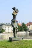 Monument Statue of Mrs. Flood in Wroclaw Stock Image