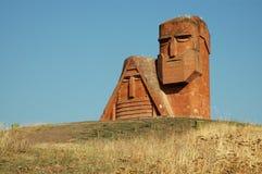 Statue in Stepanakert, Nagorno Karabakh stock photo