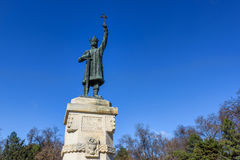 Monument statue of stefan cel mare si sfant Royalty Free Stock Photography