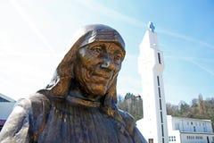 Monument StMother Teresa in Karlovac, Kroatien, Europa stockfotos