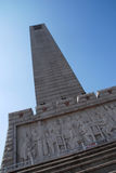 Monument. A stone monument stand under blue sky Royalty Free Stock Photography