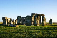 Monument Stonehenge in England stock photo