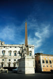 Monument and street in Rome Royalty Free Stock Photos