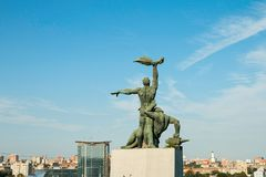 Monument of Strike of 1902 royalty free stock image
