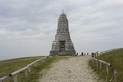Monument the summit of Grand ballon in Vosges France. royalty free stock photography