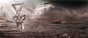 Monument sur le désert Photo libre de droits