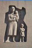 Monument sur le vieux cimetière militaire dans Lappeenranta Image libre de droits