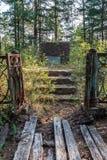 Monument sur un endroit de camp pour des prisonniers sur l'île Mudjug photos stock