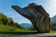 Monument Sutjeska WW2 Stockfotos