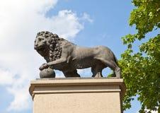 Monument Swedish lion in Narva, Estonia royalty free stock photography