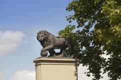 Monument Swedish lion in Narva, Estonia Royalty Free Stock Photos