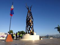 A monument in Tacloban city stands in remembrance of those who perished in the storm surge brought by typhoon Yolanda Royalty Free Stock Image